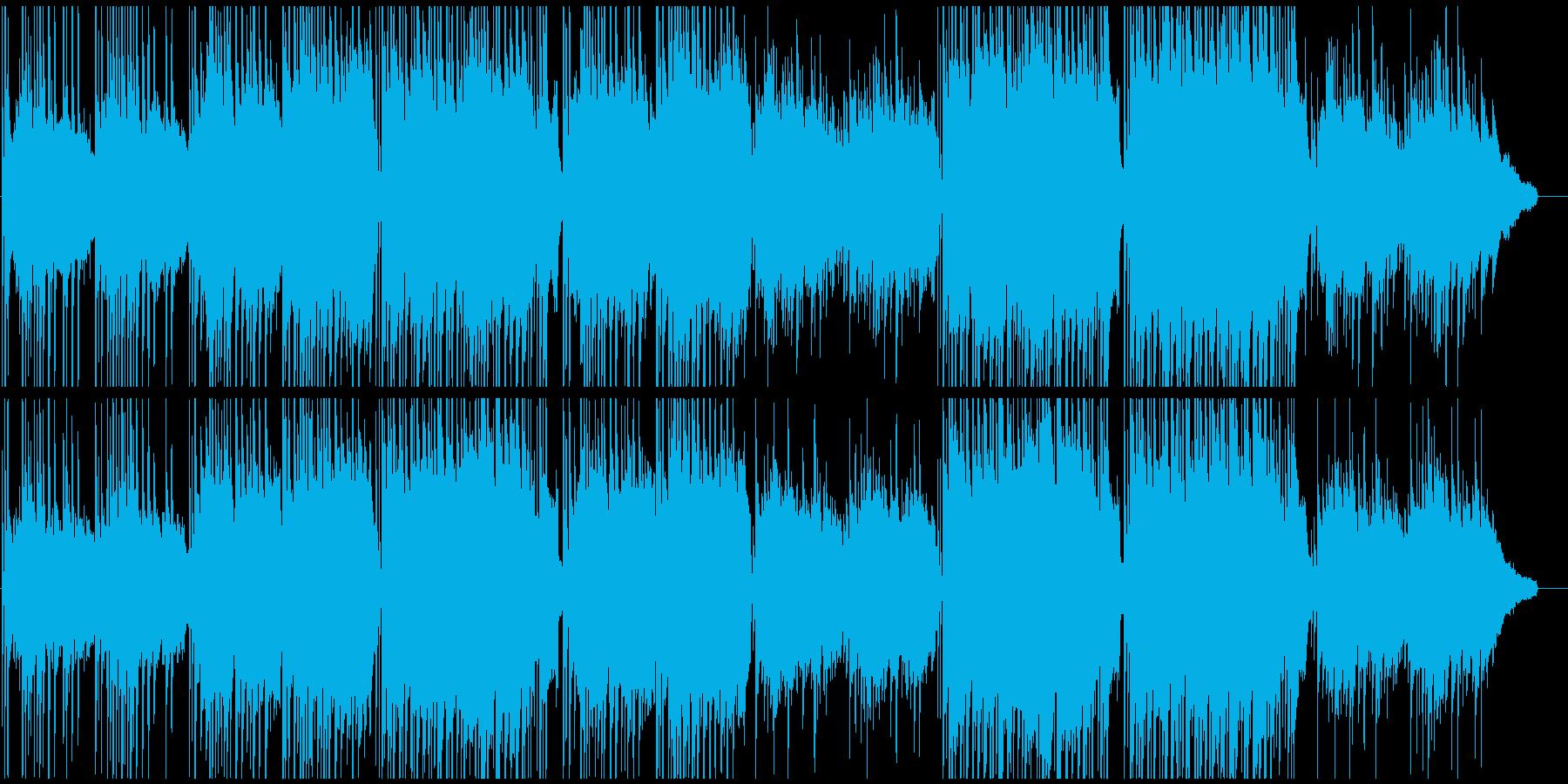 和風三味線とピアノ 日本的桜、和の映像にの再生済みの波形