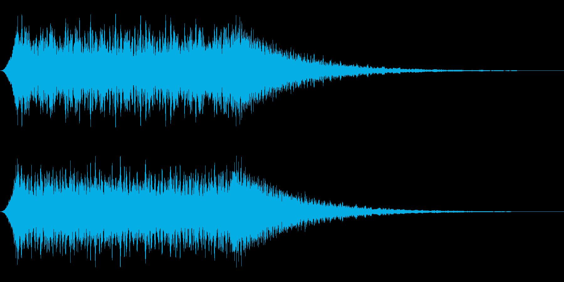 非常に長めの汎用サイレンの再生済みの波形