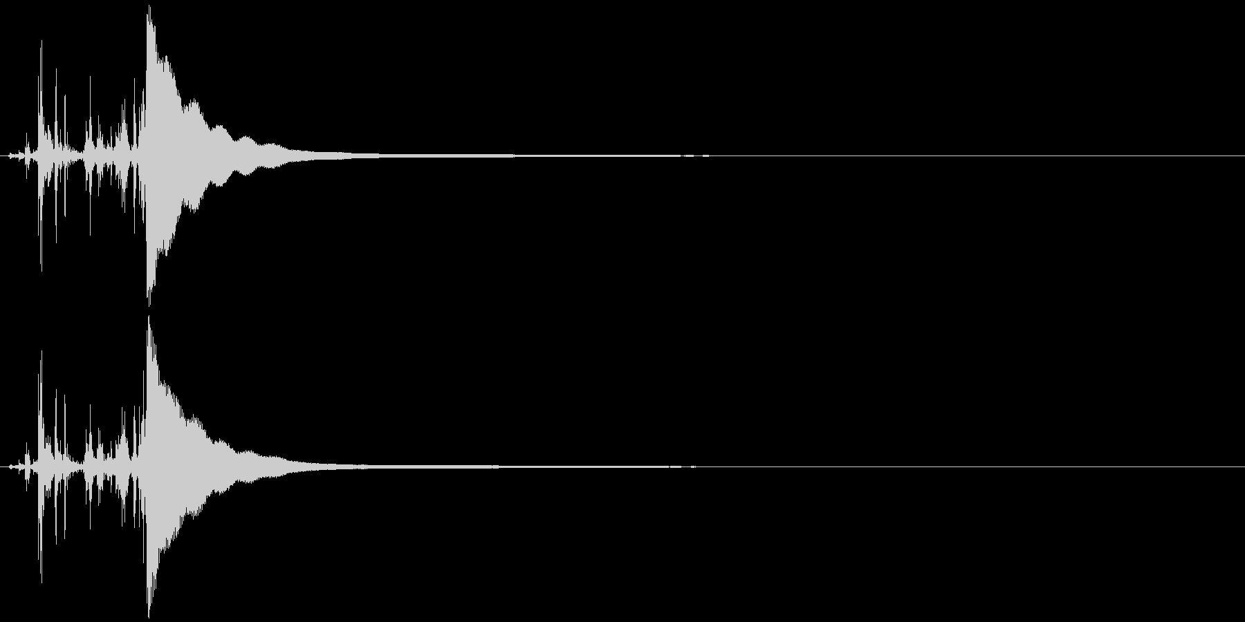 レジの音(高め)カシャッ チーンの未再生の波形