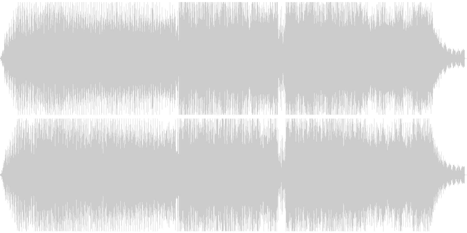 癒やし系アコースティックエレクトロニカの未再生の波形