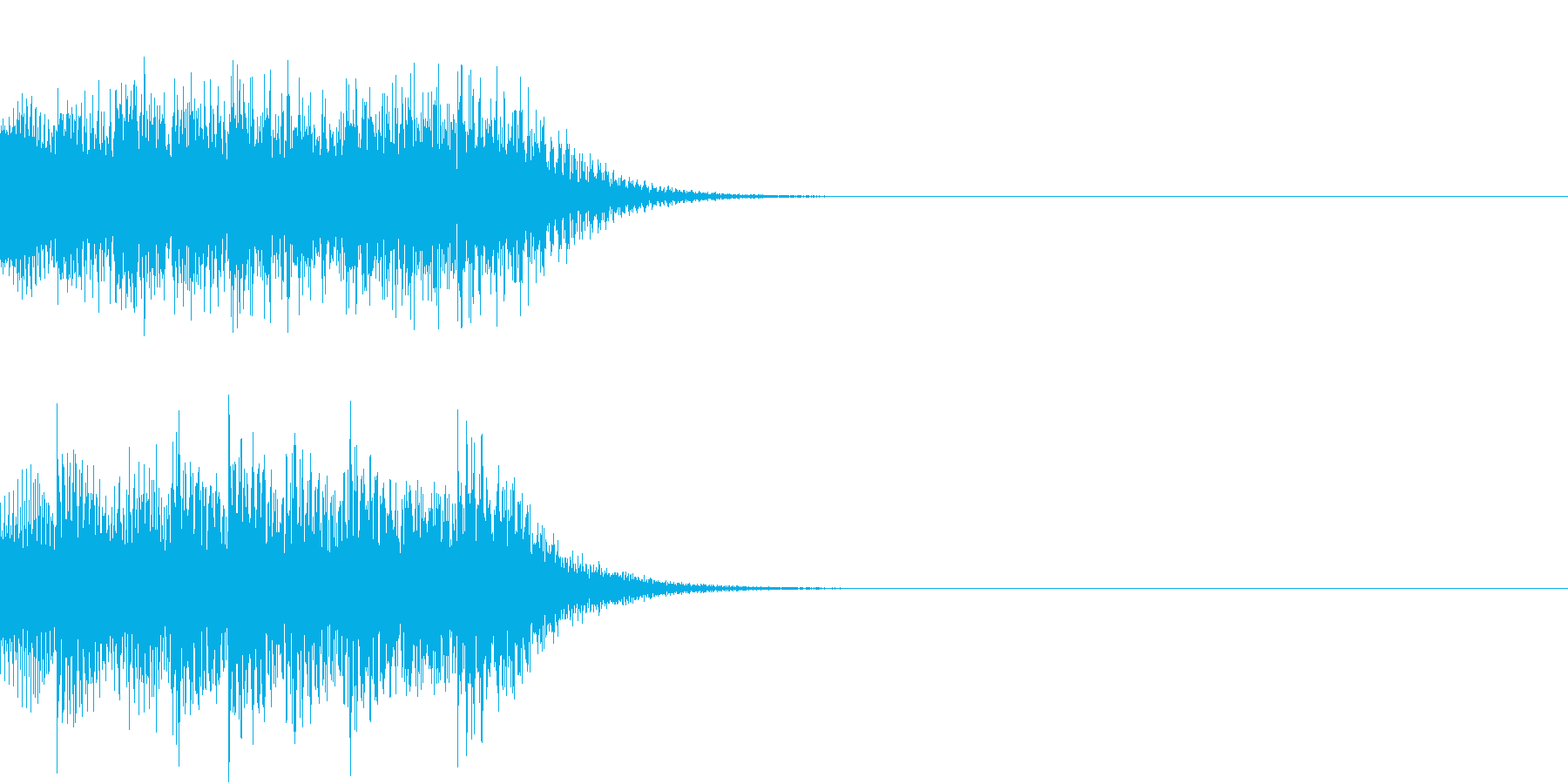 スタート等の再生済みの波形