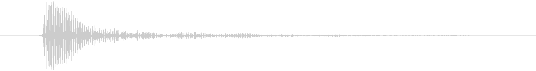 タップ音 (スマホ) キッの未再生の波形