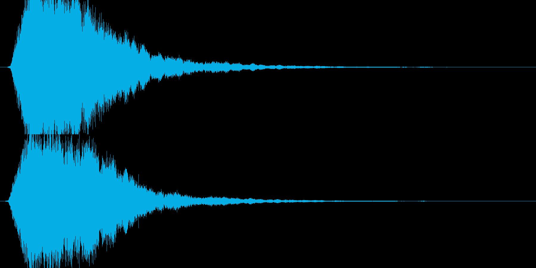 居合抜きの再生済みの波形