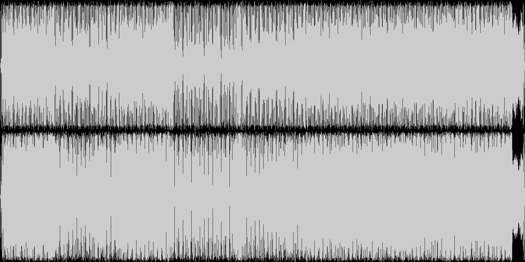 怪しげなインダストリアル風の未再生の波形