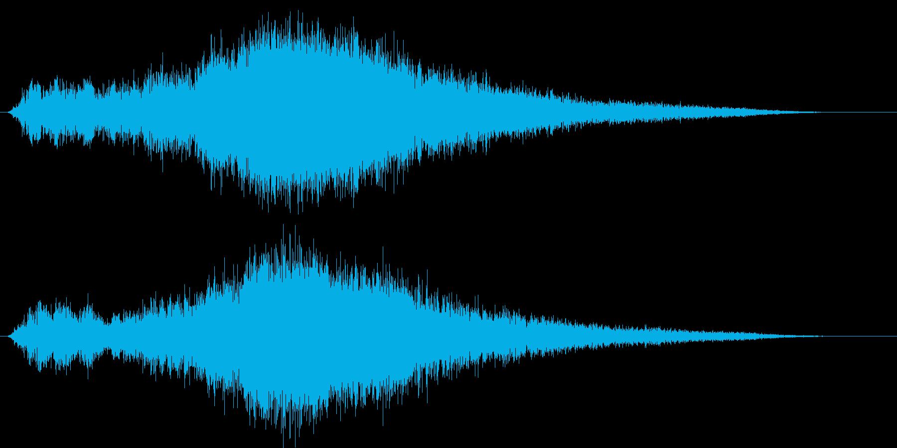 ヒューン (大型ミサイルの発射音)の再生済みの波形
