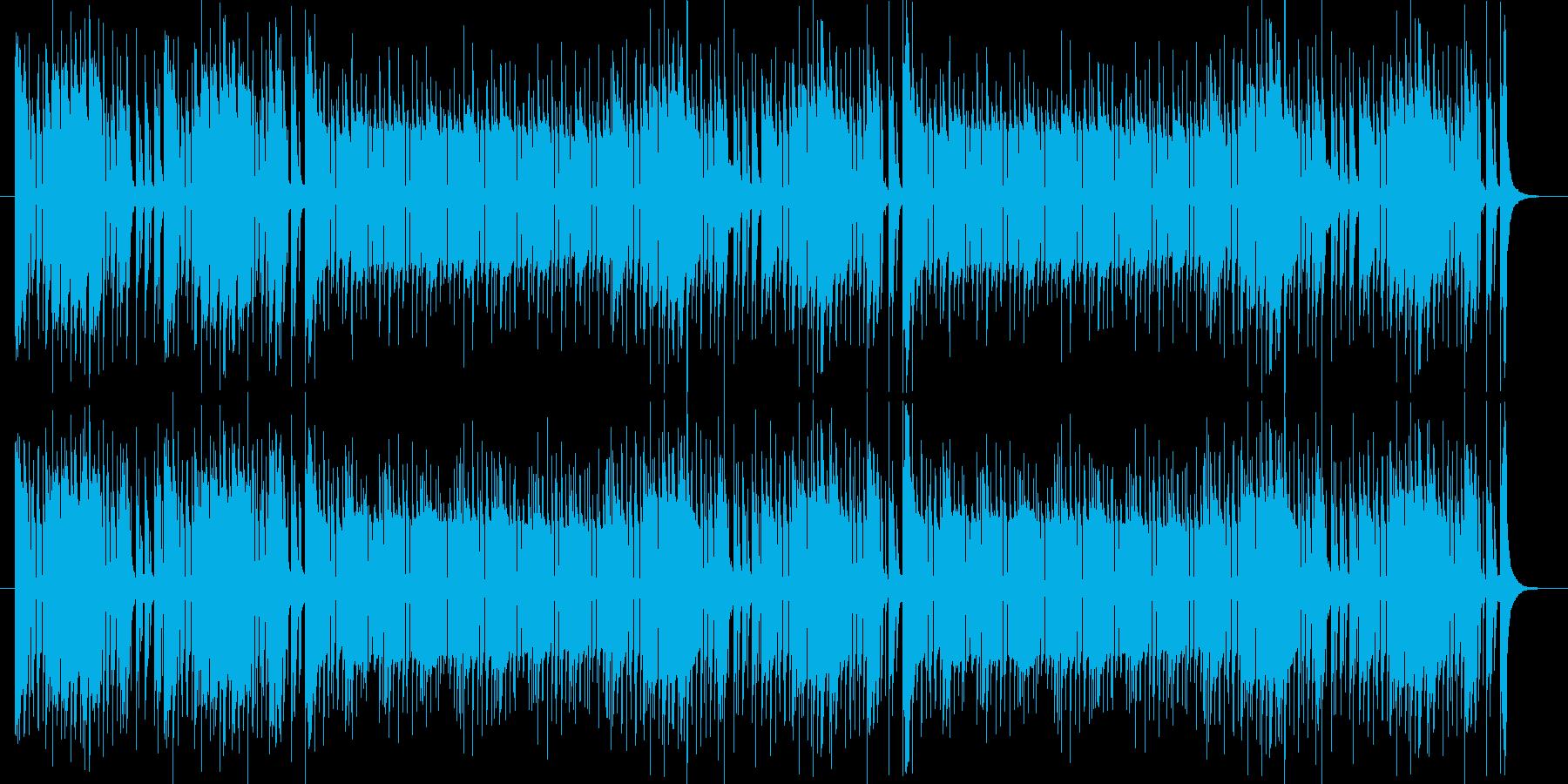 カウベルのリズムが印象的なポップスの再生済みの波形