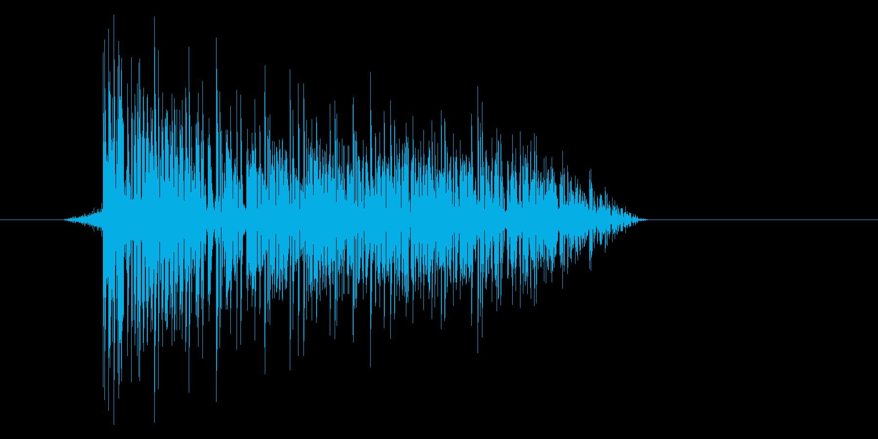 ゲーム(ファミコン風)爆発音_006の再生済みの波形