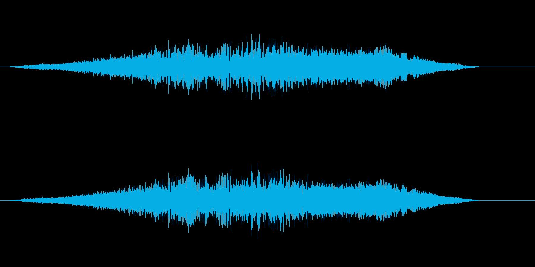 UFO発着音の再生済みの波形