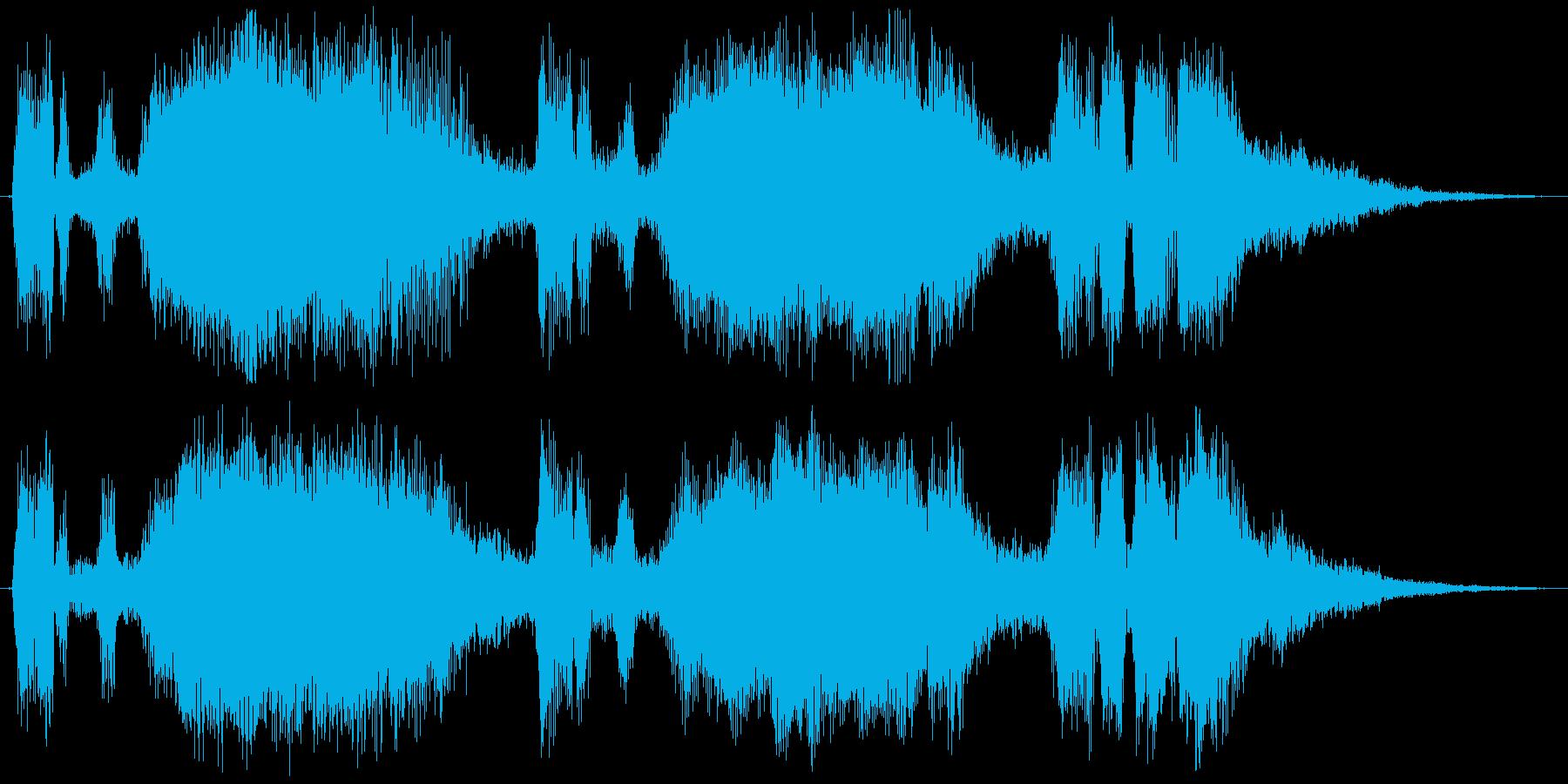 TpとTbのファンファーレの再生済みの波形