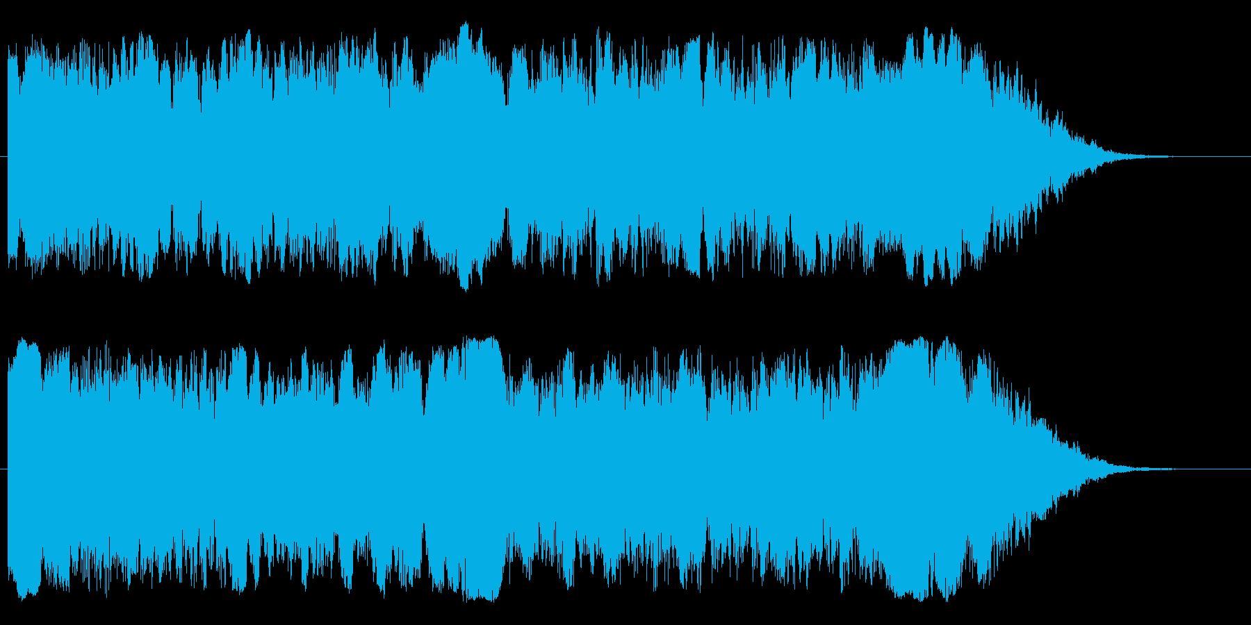 ワープ、インパクト、ビームの再生済みの波形