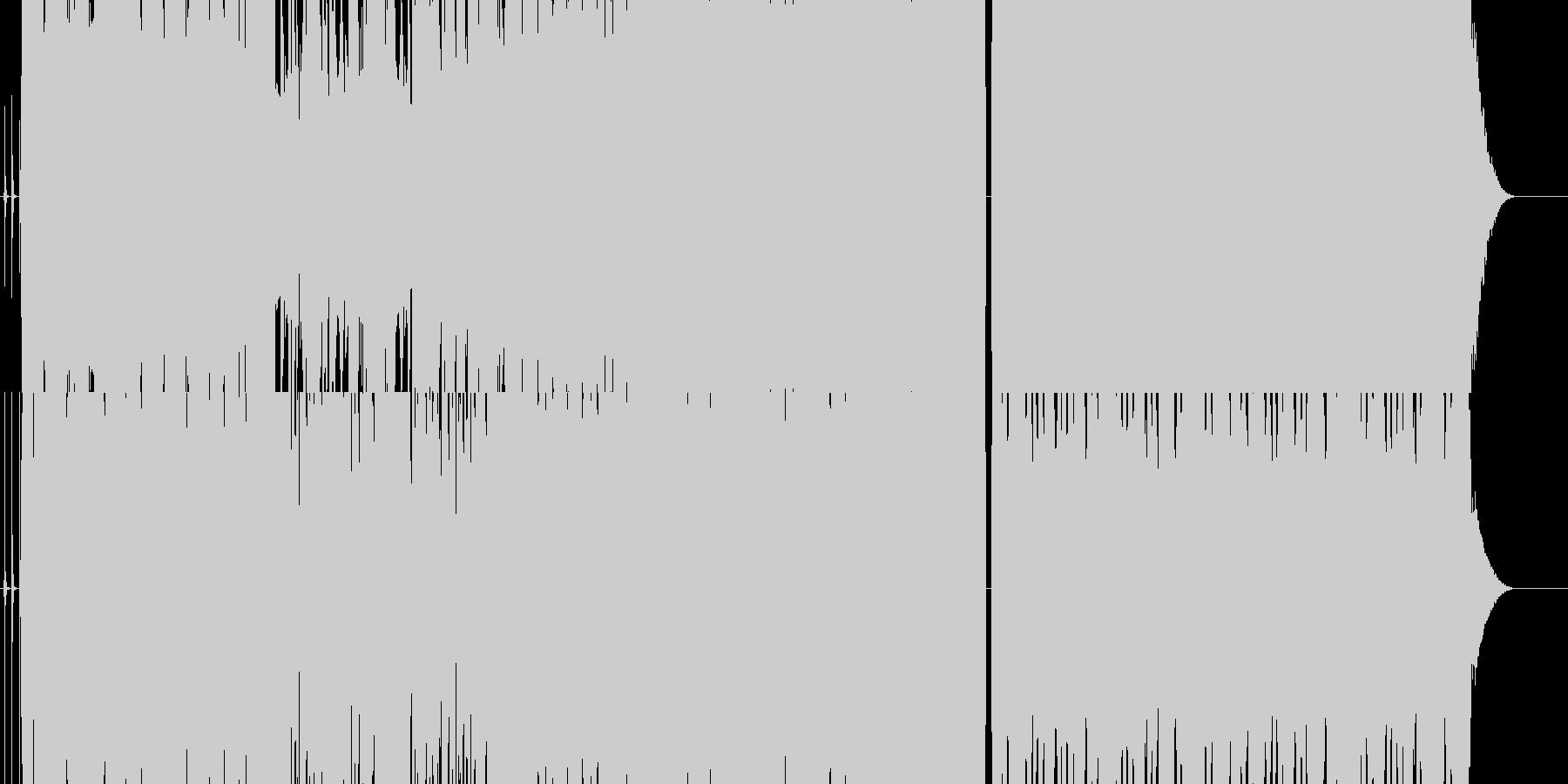 緊迫したイベントシーンの様なBGMの未再生の波形