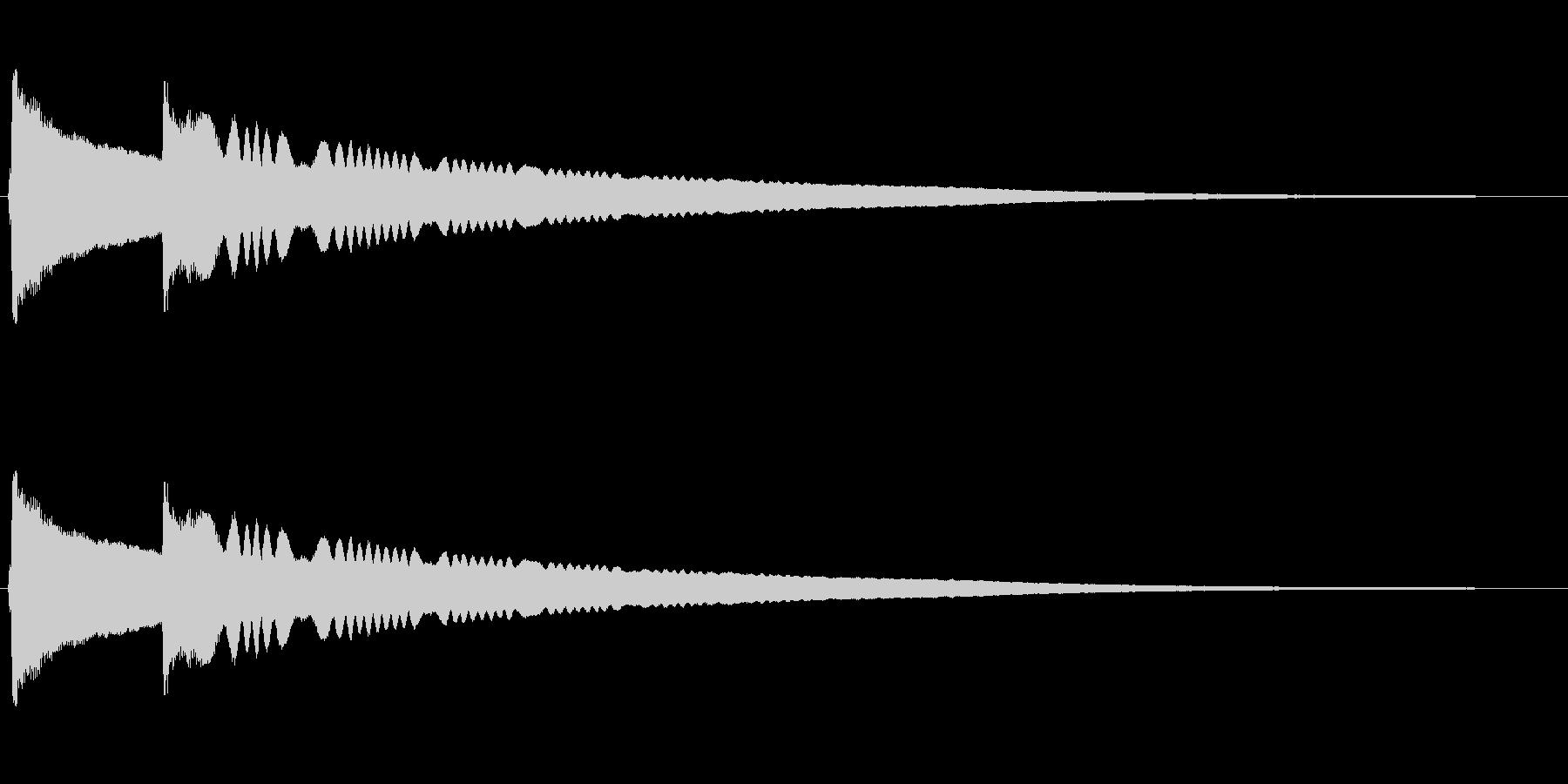 チリーンという風鈴の音の未再生の波形