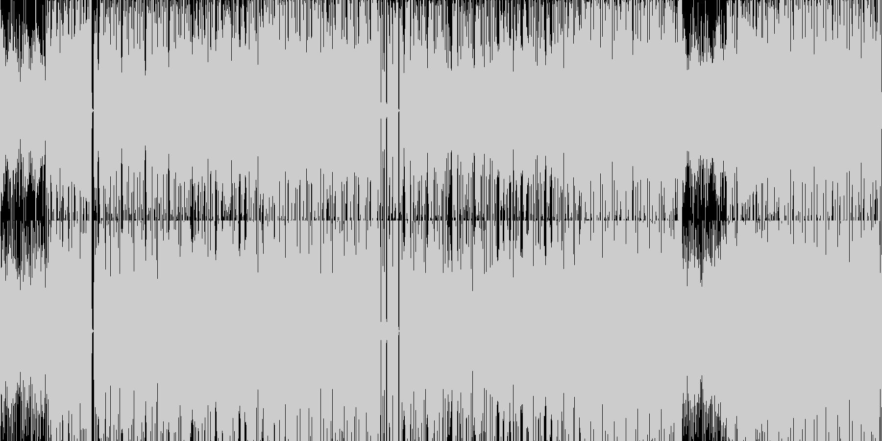 ヒップホップ風のダンスミュージックの未再生の波形