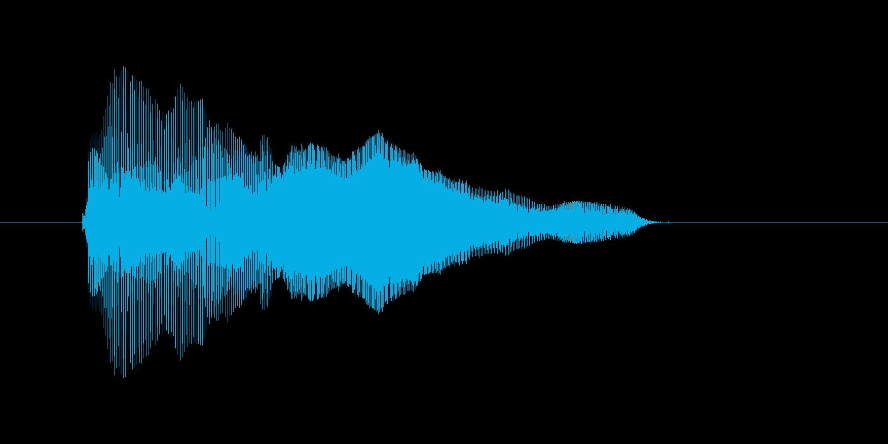 ぱお〜んの再生済みの波形
