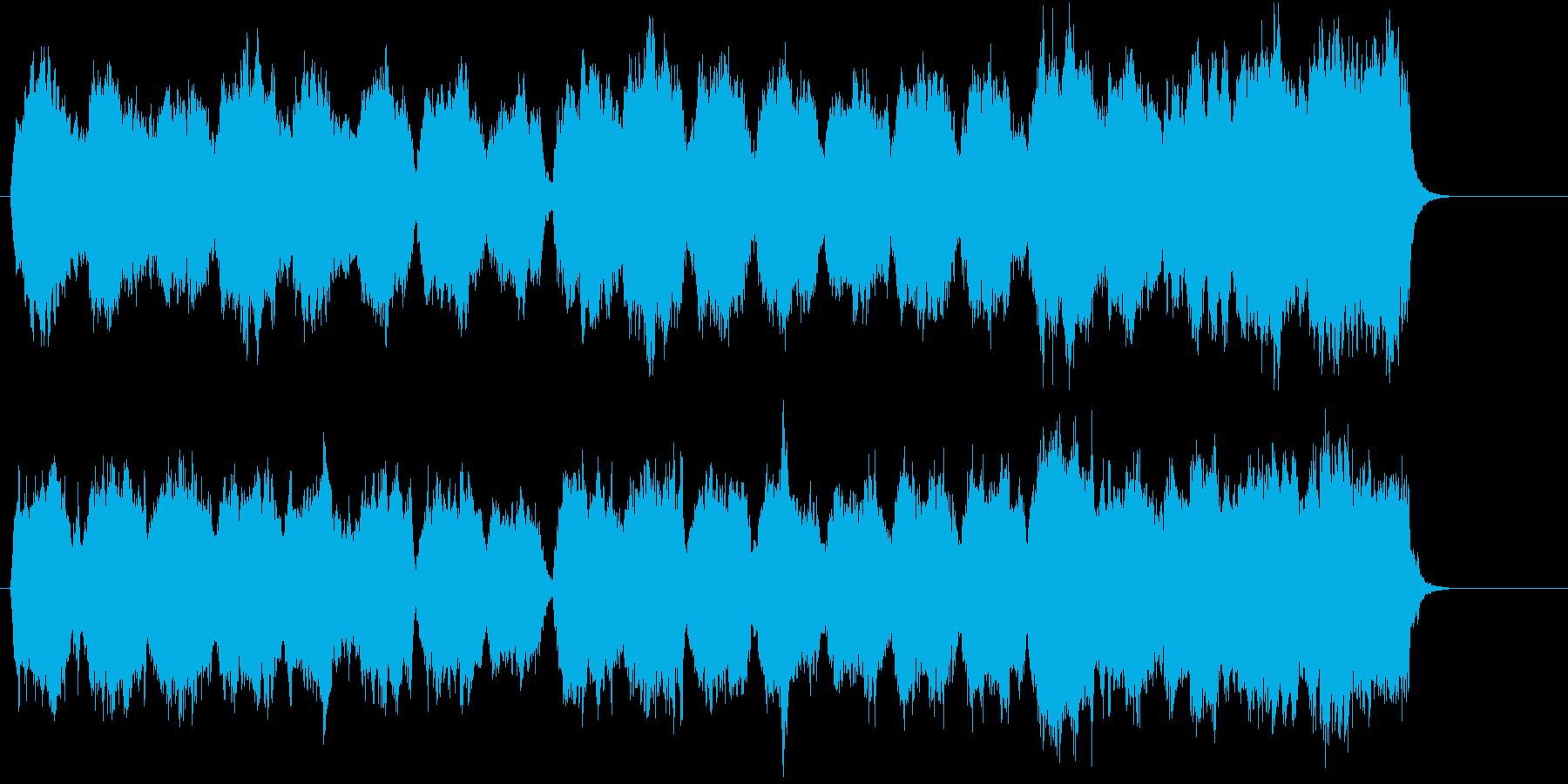 ストリングスによる故郷を思わせるポップの再生済みの波形