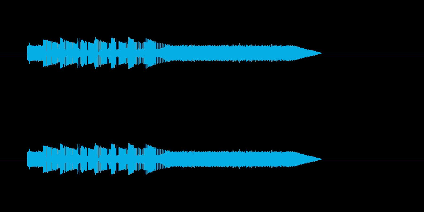 クイズ番組で不正解の時の音。の再生済みの波形