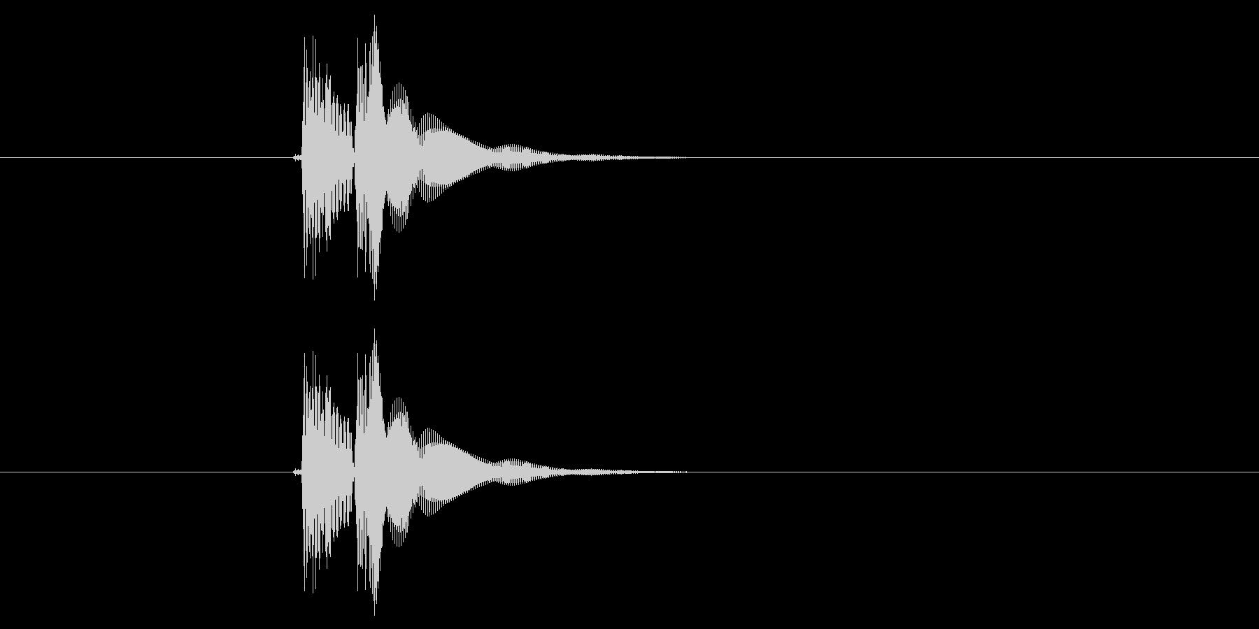 チュイーン(ボタン、決定音)の未再生の波形