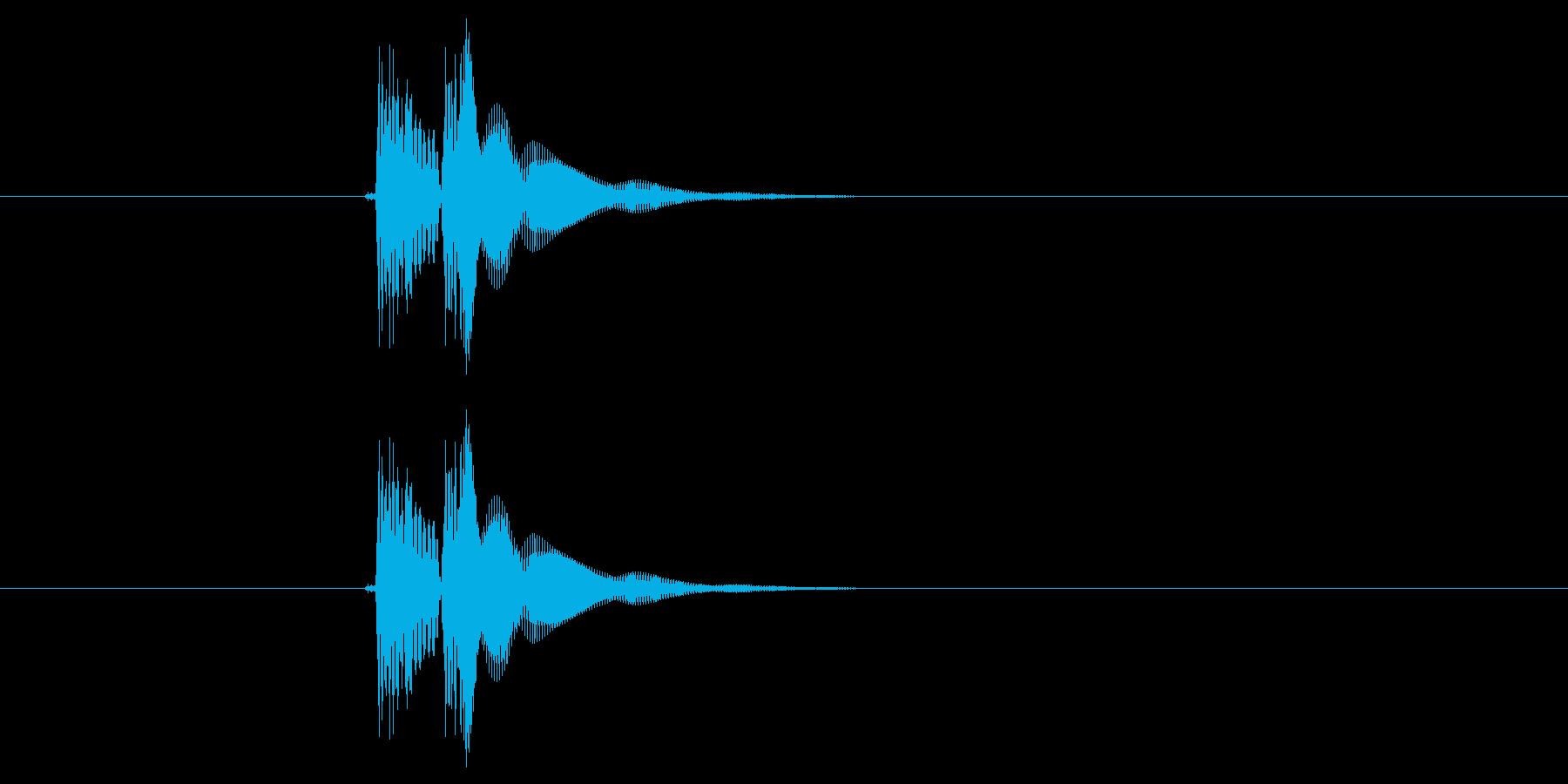 チュイーン(ボタン、決定音)の再生済みの波形