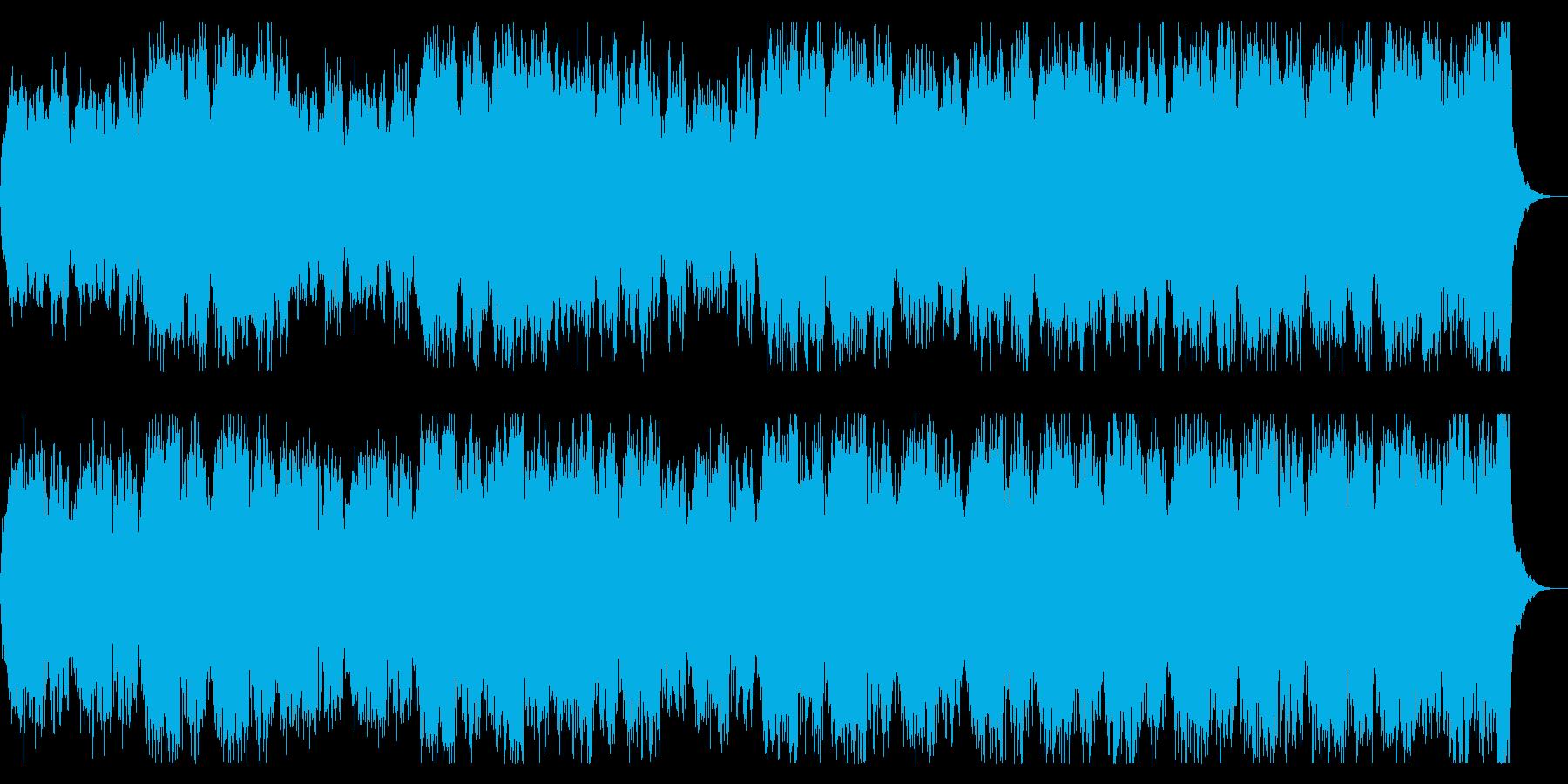 コーラスとストリングスのダークな世界観の再生済みの波形