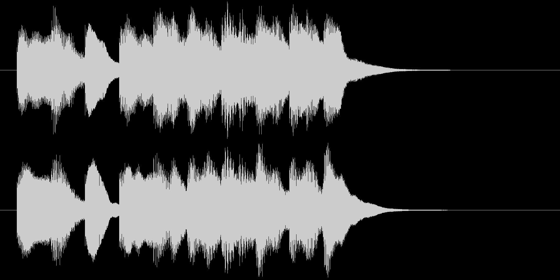 場面転換などに。可愛らしいジングルその3の未再生の波形