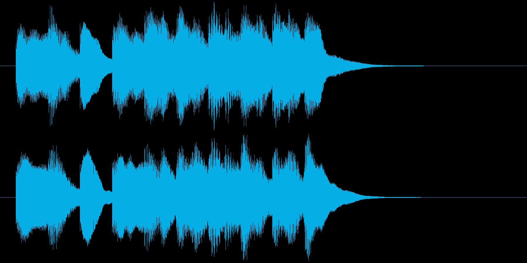 場面転換などに。可愛らしいジングルその3の再生済みの波形