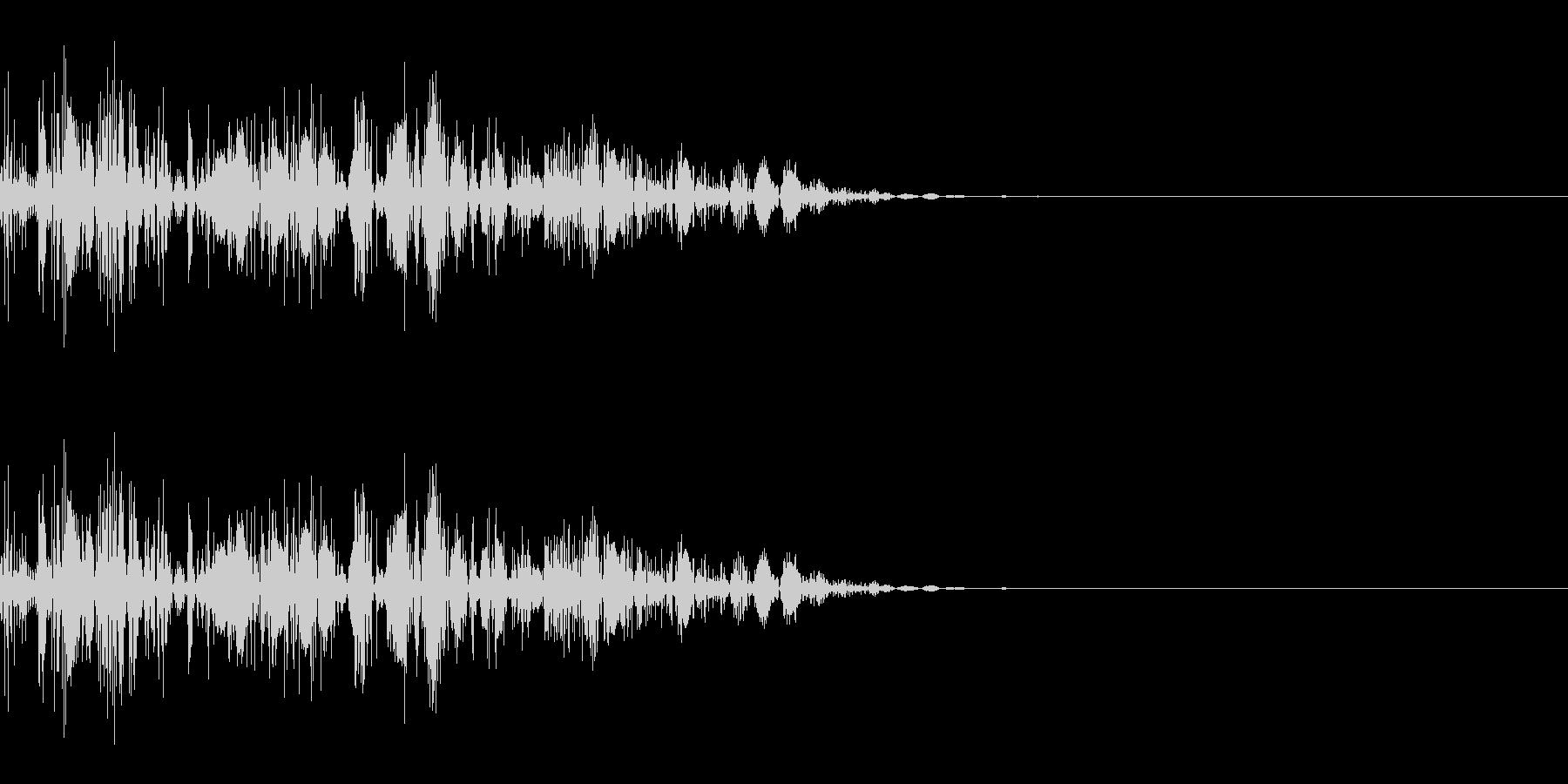 ドコッ(打撃/キック/中攻撃)の未再生の波形