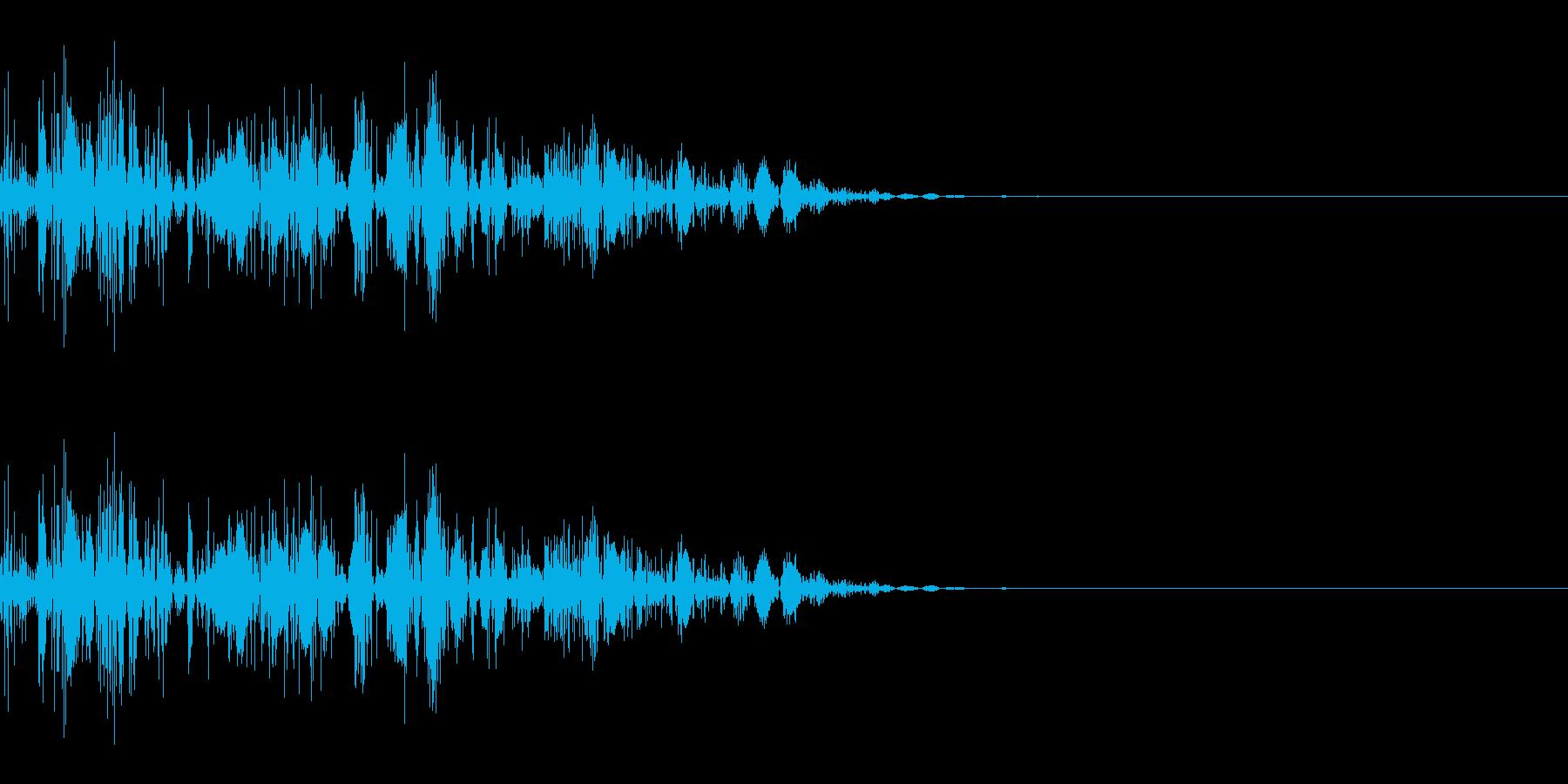 ドコッ(打撃/キック/中攻撃)の再生済みの波形