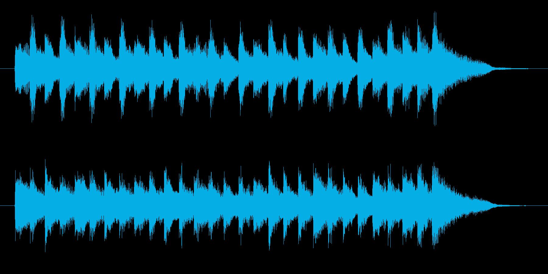 CMや映像に、可愛らしいベルのジングルの再生済みの波形