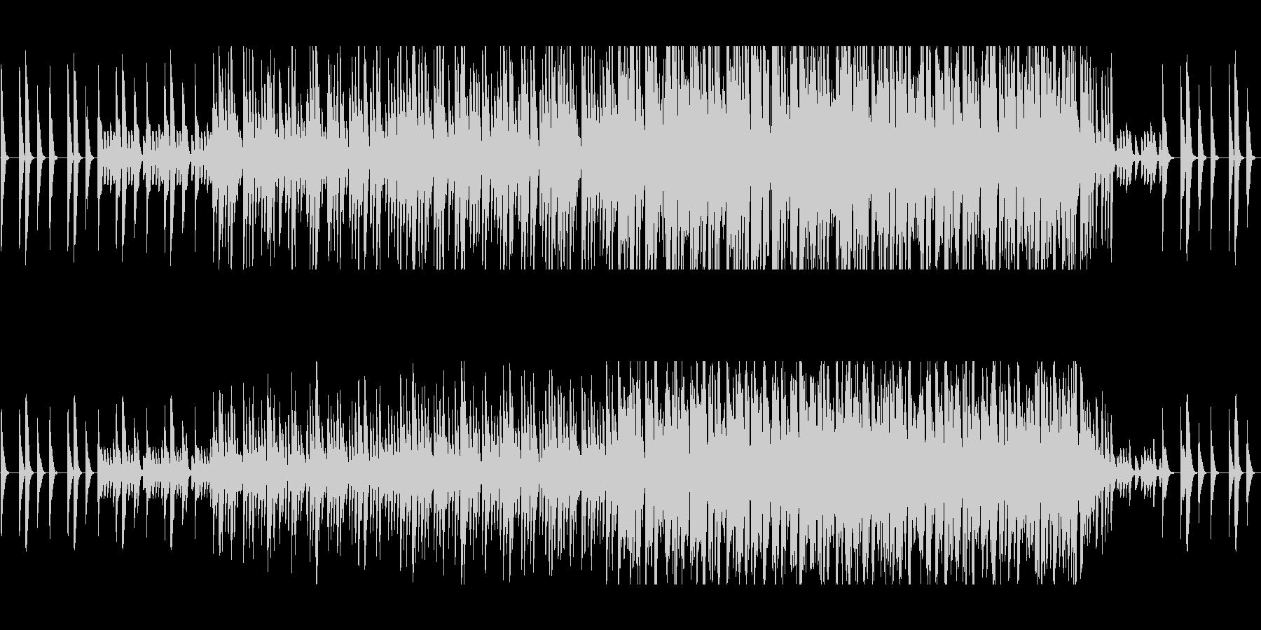 ふわふわした不思議なリズムピアノの曲の未再生の波形