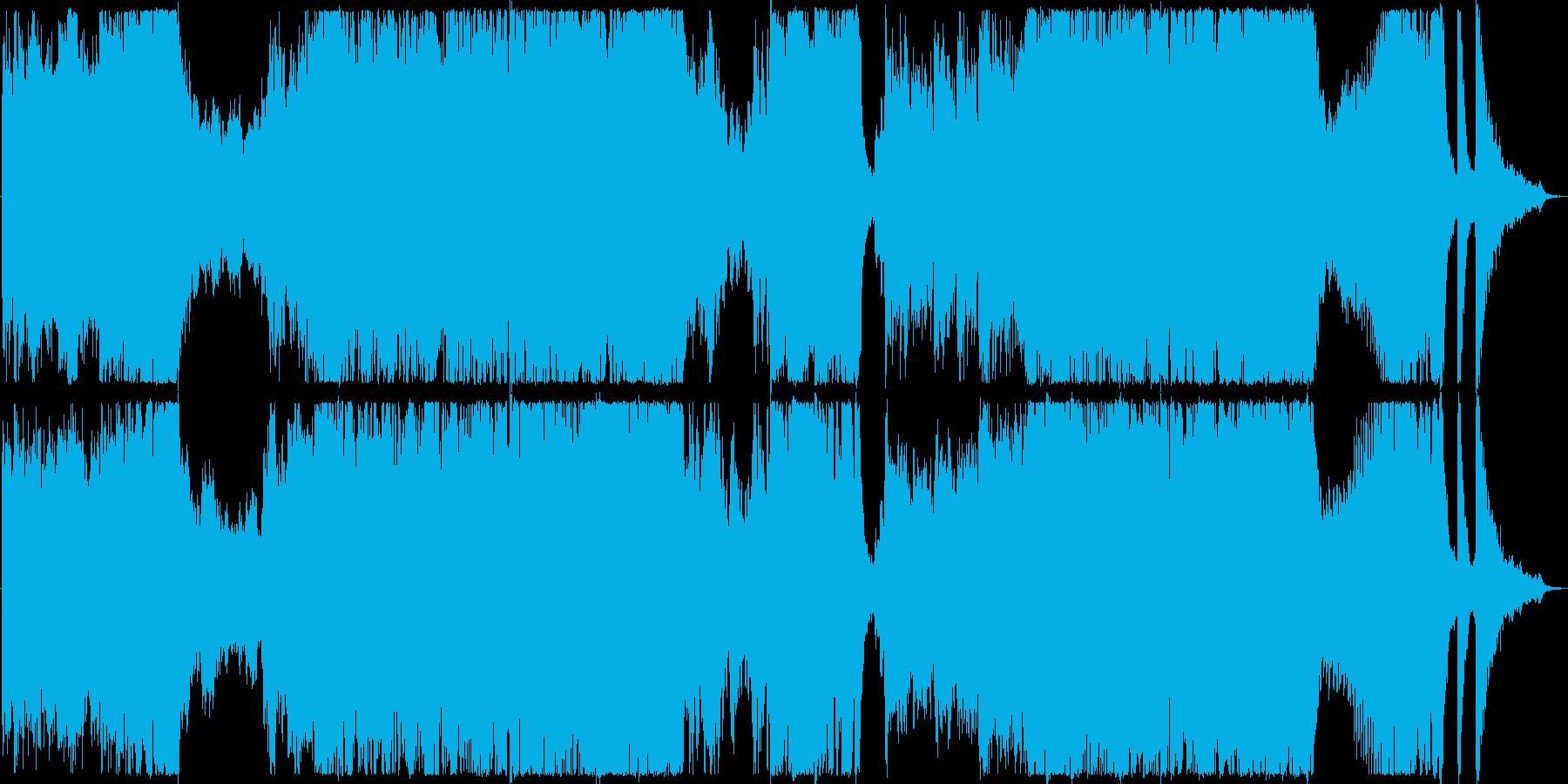 エンディングを想定したフルオーケストラ曲の再生済みの波形