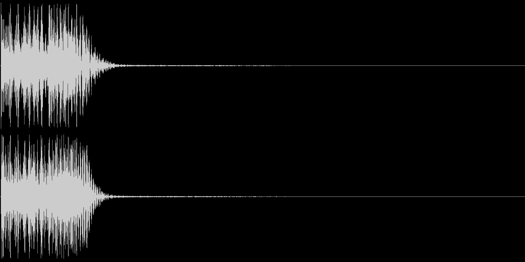 ピロン(操作音、ゲーム、アプリなどに)の未再生の波形