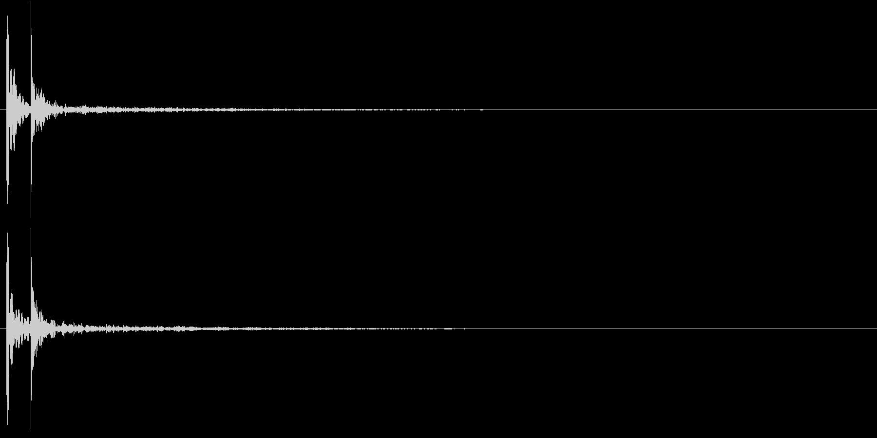 コテッ(バラエティ効果音・エコーあり)の未再生の波形