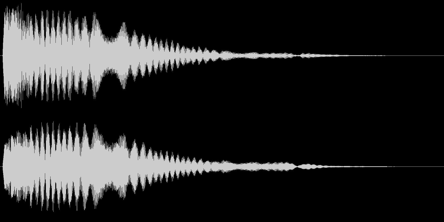 シャキ〜ン(やわらかい)の未再生の波形