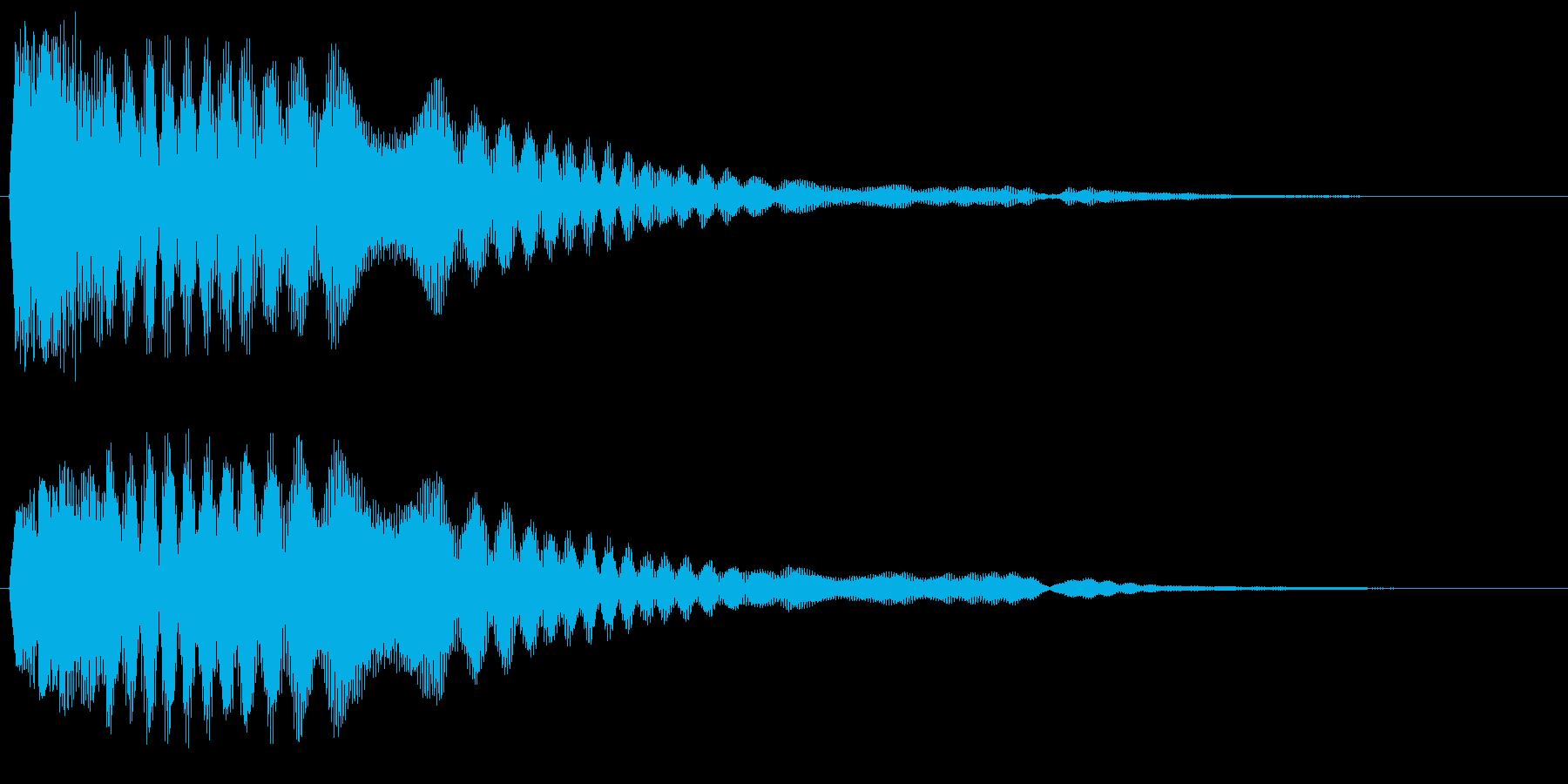 シャキ〜ン(やわらかい)の再生済みの波形