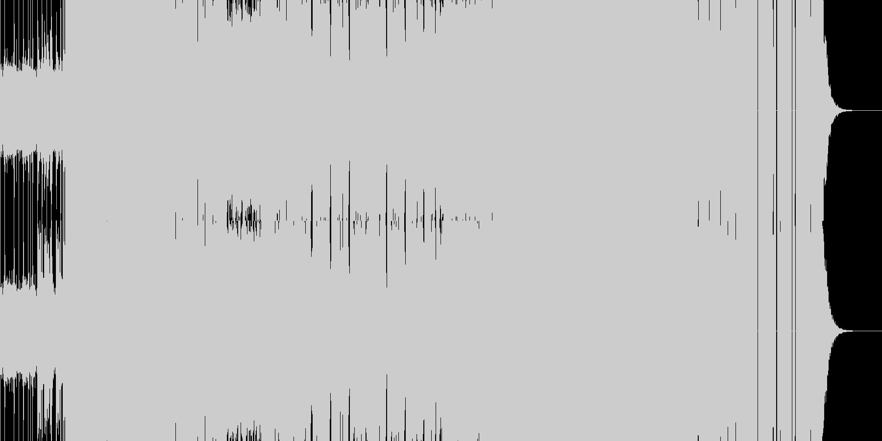 【メタルロック】バトルシーンや緊迫シーンの未再生の波形