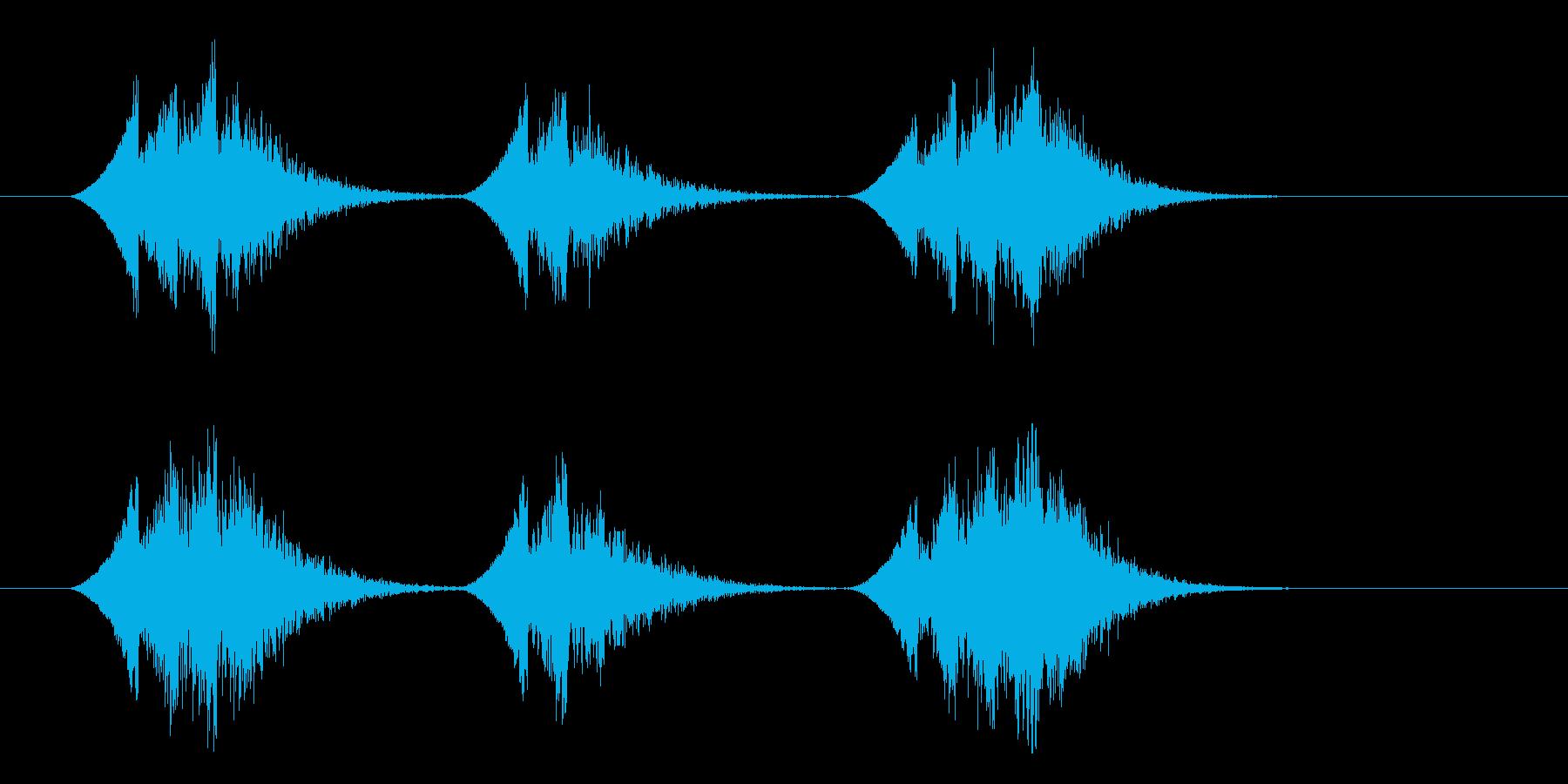 霧笛の再生済みの波形