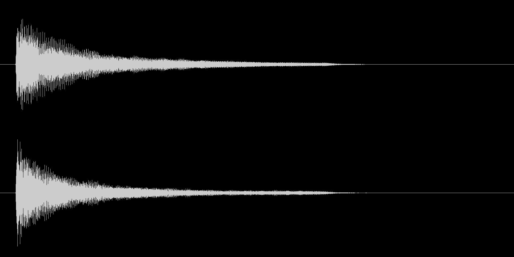 一番シンプルなピアノ和音(コード)の未再生の波形