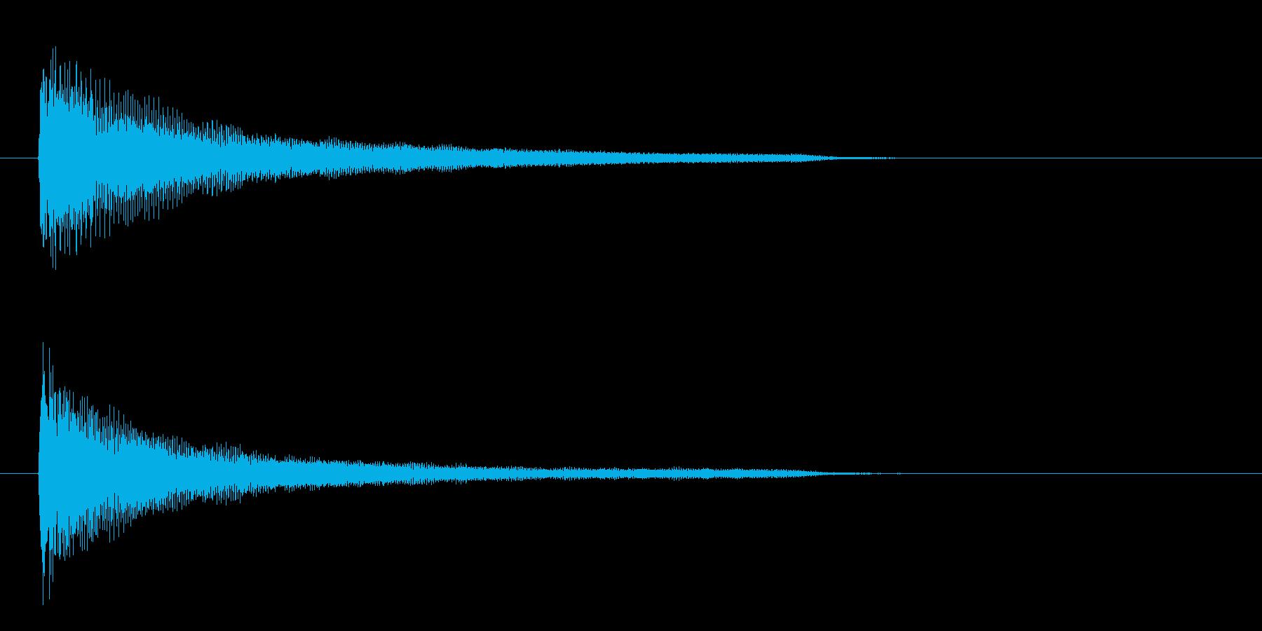 一番シンプルなピアノ和音(コード)の再生済みの波形