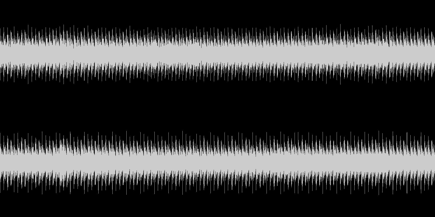 不気味な空間(鼓動)(心音)の未再生の波形