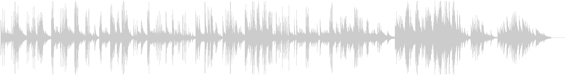 ピアノ一本によるバラード調の曲の未再生の波形