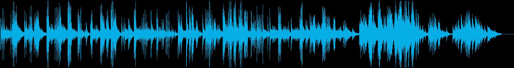 ピアノ一本によるバラード調の曲の再生済みの波形