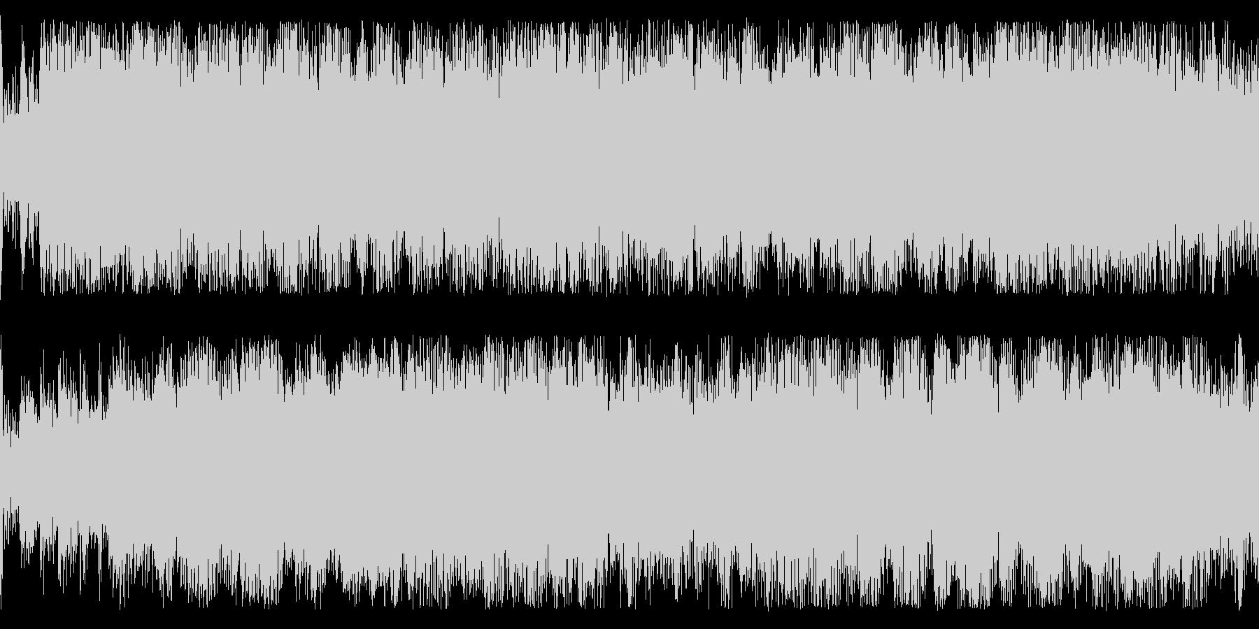 淡々としたリズムを刻む楽曲です。の未再生の波形