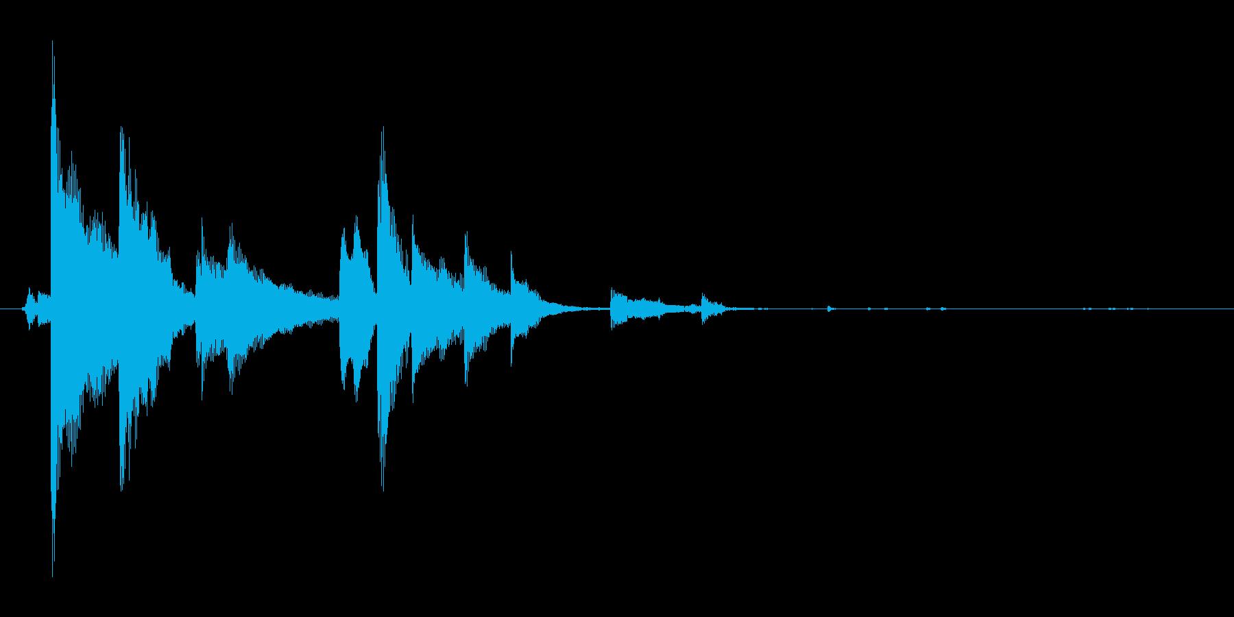 小さい鈴の再生済みの波形