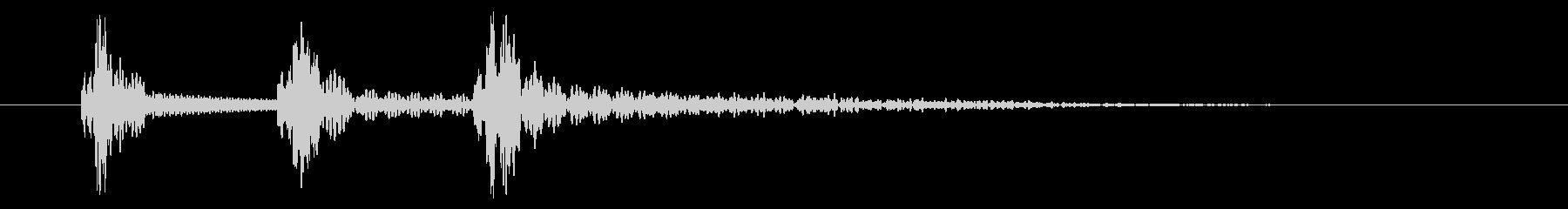 PC・アプリ操作音向け電子音(ポコポン)の未再生の波形