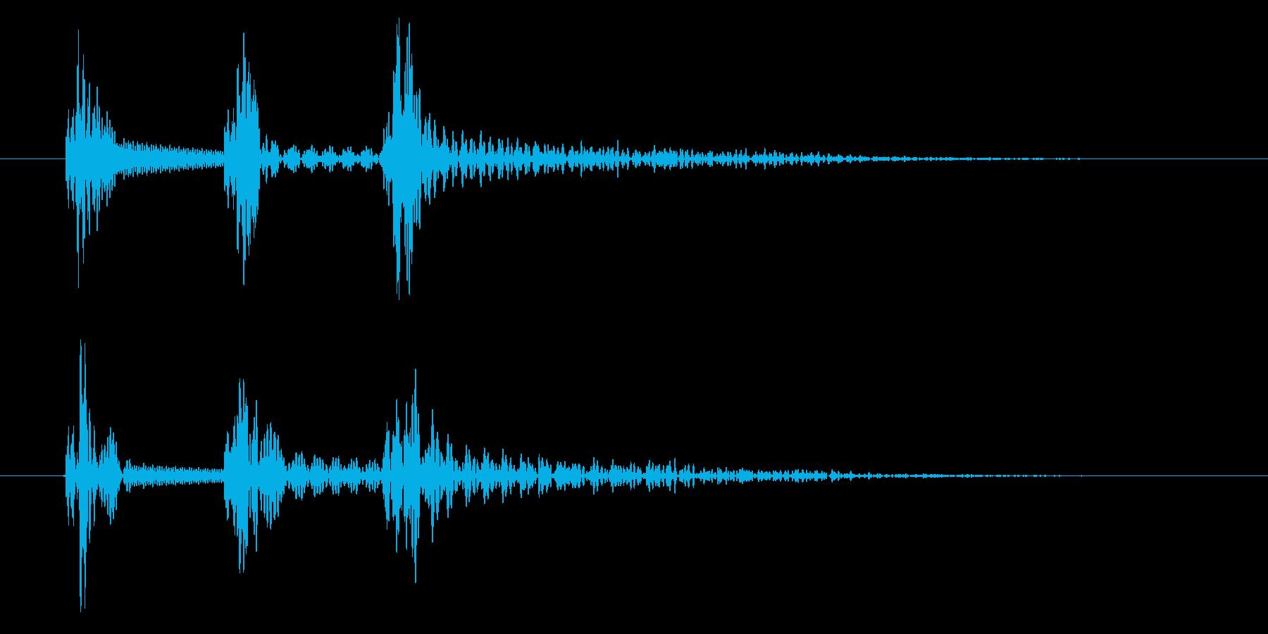 PC・アプリ操作音向け電子音(ポコポン)の再生済みの波形
