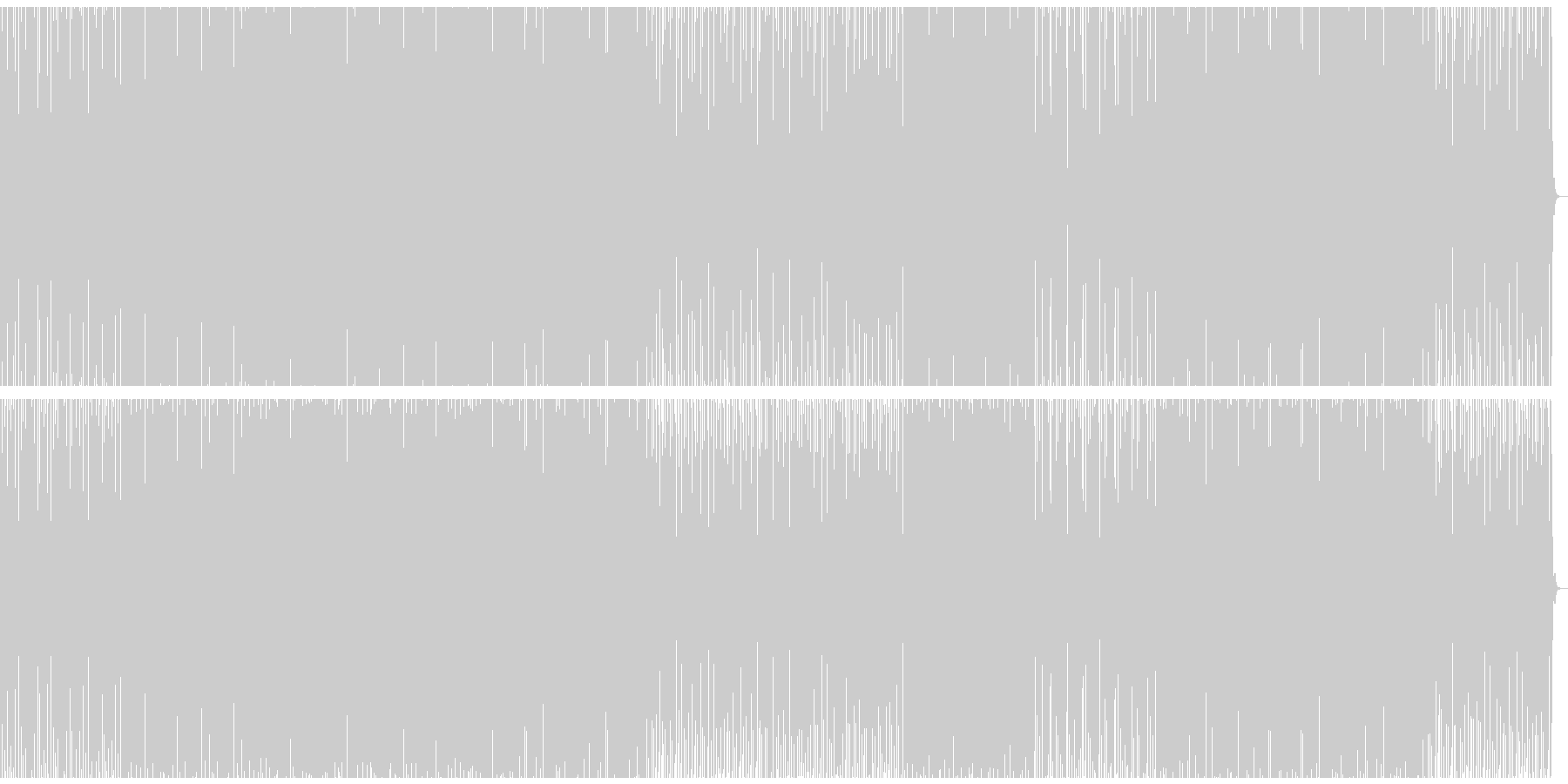 無機質で工業的なベースミュージックの未再生の波形