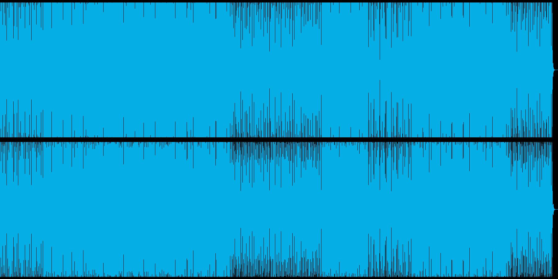 無機質で工業的なベースミュージックの再生済みの波形