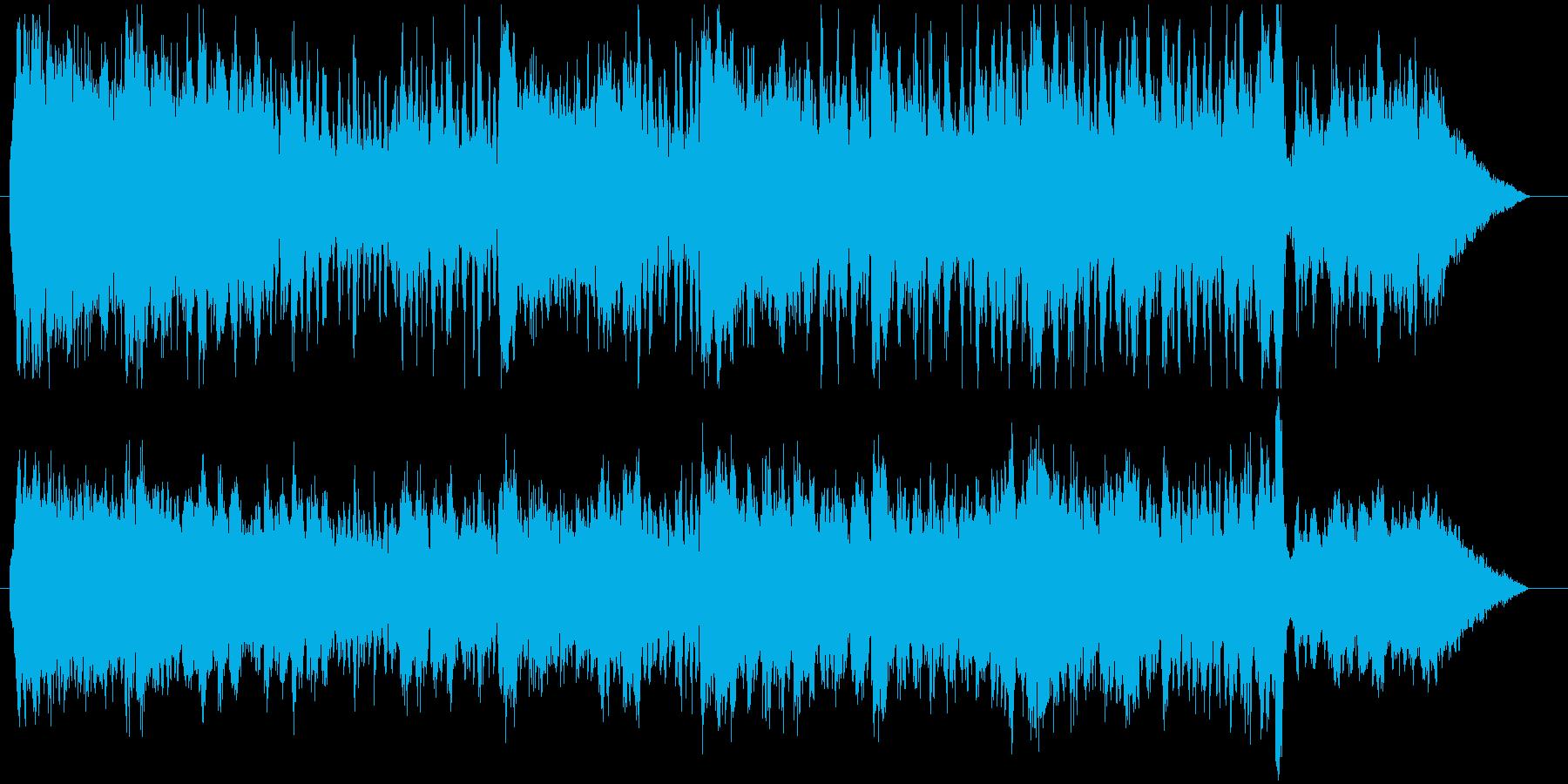 アルプス・ヨーロッパ風の華麗なワルツの再生済みの波形