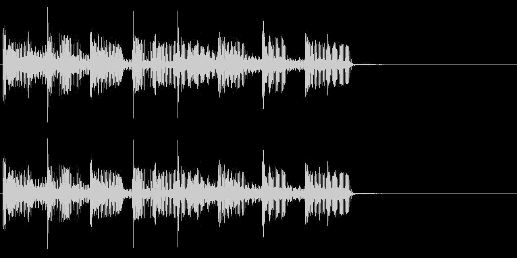 2小節ジングル04 ディスコ2の未再生の波形