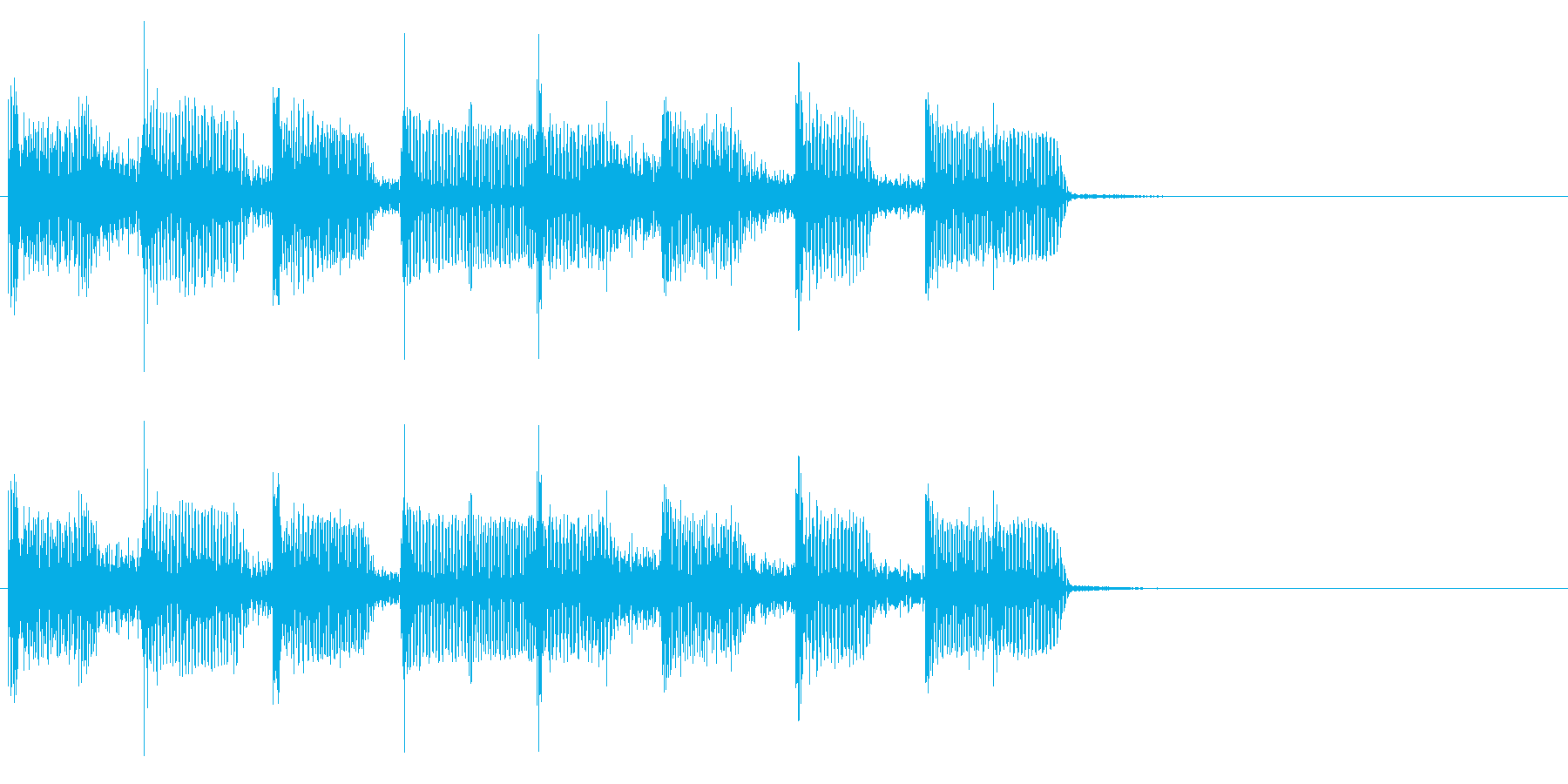 2小節ジングル04 ディスコ2の再生済みの波形